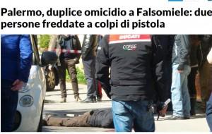Palermo, agguato in periferia: due persone uccise