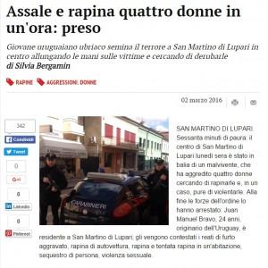 Guarda la versione ingrandita di Padova: assale e rapina quattro donne in un'ora