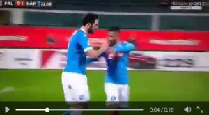 Guarda la versione ingrandita di Palermo-Napoli, Higuain gol ed esultanza