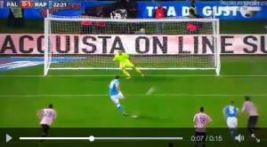 Palermo-Napoli, Higuain gol ed esultanza