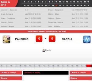 Palermo-Napoli diretta live su Blitz 29a giornata serie A