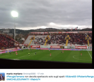 Guarda la versione ingrandita di Perugia-Ternana 1-0, striscioni-coreografie derby FOTO da Twitter
