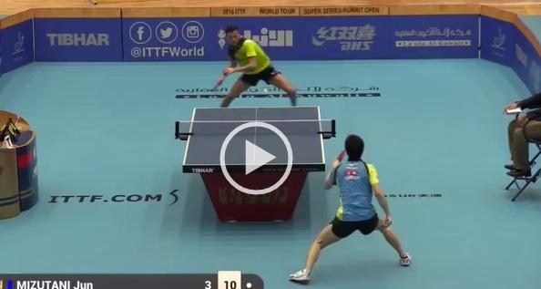 Ping pong, lo scambio infinito: 59 colpi