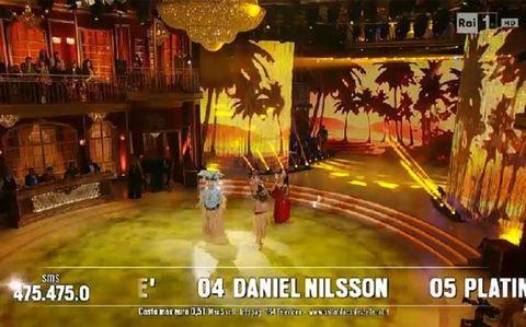Platinette perde gonnellino a Ballando con le Stelle VIDEO11