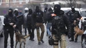 Polizia per le strade di Bruxelles