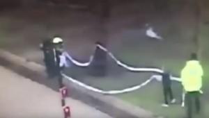YOUTUBE Ragazzino aiuta polizia a pulire campo dopo partita