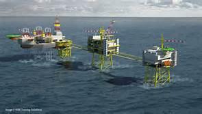 Piattaforme petrolifere nel Qatar