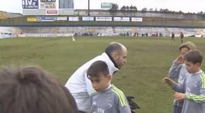 Real segna con avversario a terra e restituisce gol