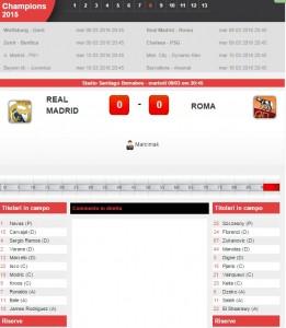 Real Madrid-Roma: diretta live ottavi Champions League su Blitz con Sportal