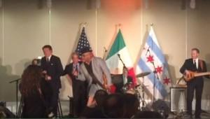 "Renzi canta ""Sweet home Chicago"" col sindaco Emanuel"