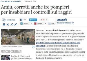 Traffico rifiuti: generale carabinieri Enzo Fanelli indagato