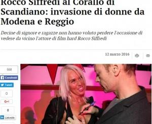 Modena, Rocco Siffredi ospite in discoteca: autografi audaci