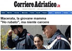 """""""Niente carcere: è una mamma"""". E la rom fa gesto """"vittoria"""""""