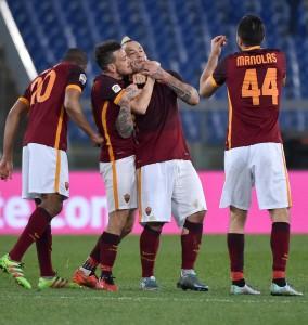 Guarda la versione ingrandita di Roma-Fiorentina 4-1: FOTO. El Shaarawy-Salah-Perotti, Ilicic