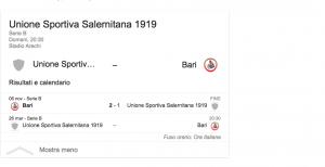 Salernitana-Bari streaming-diretta tv, dove vedere Serie B