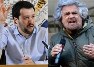 Matteo Salvini Beppe Grillo