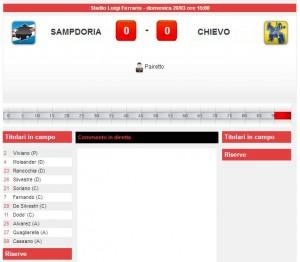 Sampdoria-Chievo: diretta live su Blitz. Formazioni e info