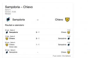 Sampdoria-Chievo streaming-diretta tv, dove vedere Serie A