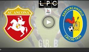 Santarcangelo-Ancona Sportube: streaming diretta live