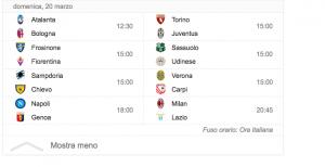 Guarda la versione ingrandita di Serie A, il programma della trentesima giornata