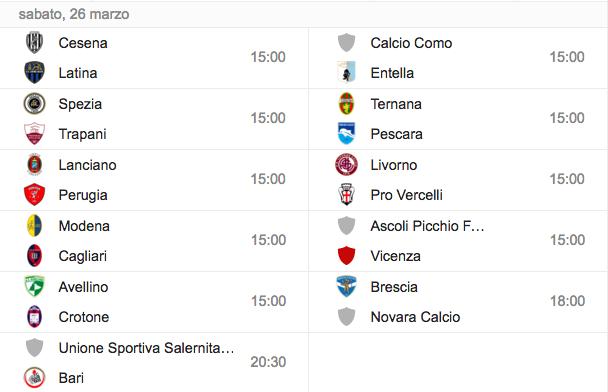Serie B, streaming-diretta tv: dove vedere trentatreesima giornata