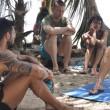 Isola, infortunio per Simona Ventura nella prova leader 05