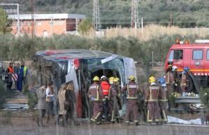 Spagna: incidente bus in Catalogna, 14 studenti morti 5