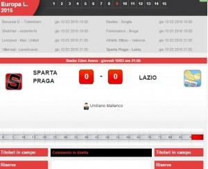 Sparta Praga-Lazio: diretta live su Blitz ottavi Europa League con Sportal
