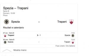 Spezia-Trapani streaming-diretta tv, dove vedere Serie B