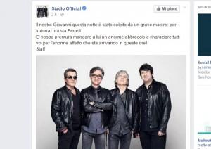 Giovanni Pezzoli, batterista Stadio, ha un grave malore
