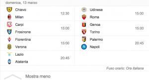 Guarda la versione ingrandita di Serie A, il programma della ventinovesima giornata