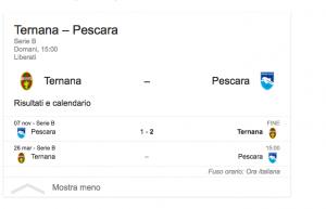Ternana-Pescara streaming-diretta tv, dove vedere Serie B