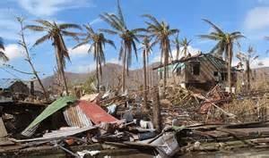 Le distruzioni di un tifone nelle Filippine
