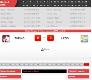 Torino-Lazio: diretta live su Blitz 28a giornata serie A