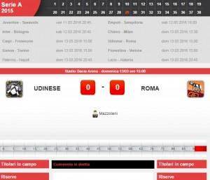 Udinese-Roma, diretta live su Blitz