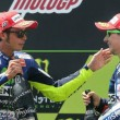 Valentino Rossi e Jorge Lorenzo (foto Ansa)