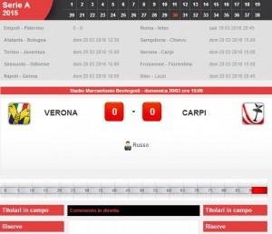 Verona-Carpi: diretta live su Blitz. Formazioni e info