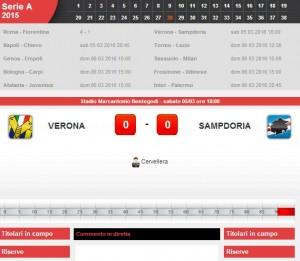 Verona-Sampdoria: diretta live su Blitz con Sportal