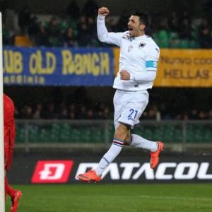 Verona-Sampdoria  nella foto Ansa