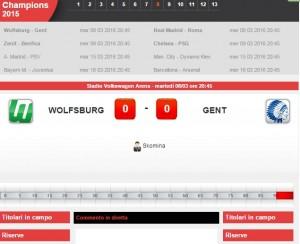 Wolfsburg-Gent: diretta live ottavi Champions League su Blitz