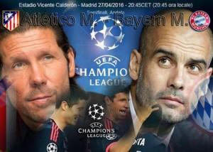 Atletico Madrid-Bayern Monaco, diretta tv e streaming