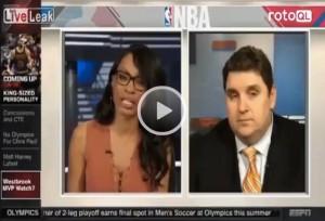 Guarda la versione ingrandita di Basket. Giornalista fa domanda, lui dorme: diretta tv è flop