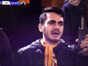Alessio Avallone, tifoso che piange per Totti: ecco chi è