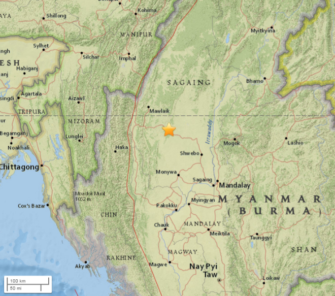 Terremoto Birmania, forte scossa di magnitudo 02