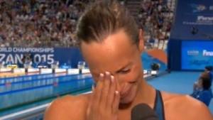 Guarda la versione ingrandita di Federica Pellegrini vince e piange per la zia malata