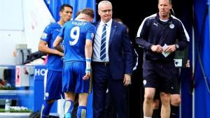Leicester-West Ham 2-2, Ranieri pari al 95', Vardy espulso