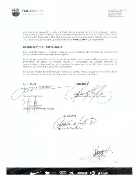 Neymar, contratto svelato da Football Leaks: cifre, bonus... 12