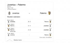Juventus-Palermo diretta. Formazioni ufficiali e video gol