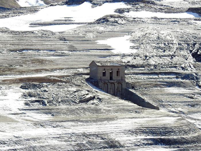 Lago Moncenisio svuotato, qui Mussolini