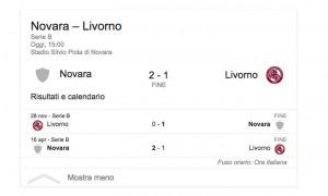 Novara-Livorno 2-1, highlights-video gol Serie B